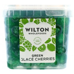 Green Glace Cherries 1Kg