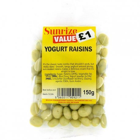 Yogurt Raisins £1 (150g)