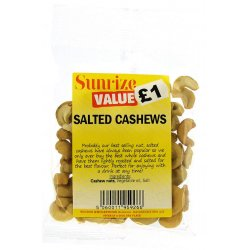 Salted Cashews £1 (60g)
