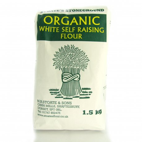 Organic Self Raising White Flour 1.5Kg