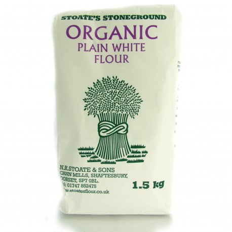 Flour, Organic Plain White 1.5Kg